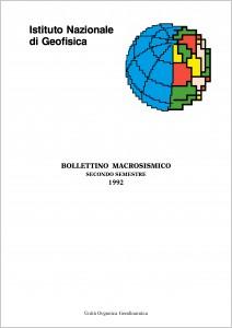 Bollettino Macrosismico ING, 1996
