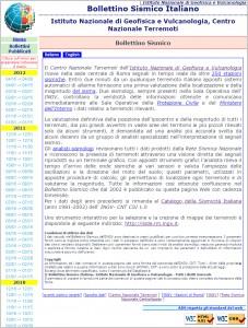 Bollettino Sismico Italiano