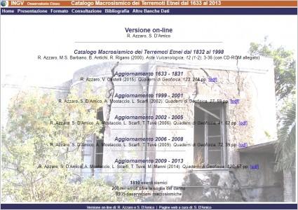 Catalogo Macrosismico dei Terremoti Etnei